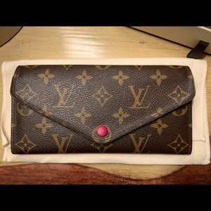 Louis Vuitton Josephine Wallet Monogram Fuschia